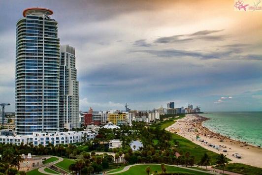 شاطئ الجنوب ميامي فلوريدا