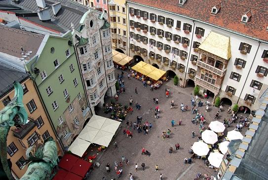 مركز المدينة القديم في انسبروك