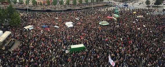 مظاهرات في اوروبا دعماً للاجئين