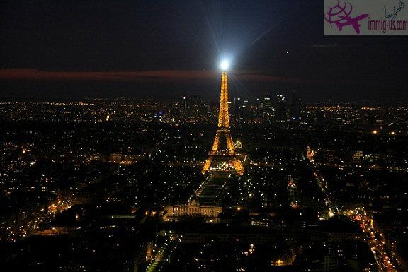 الليل في برج ايفل