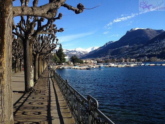 بحيرة لوغانو سويسرا