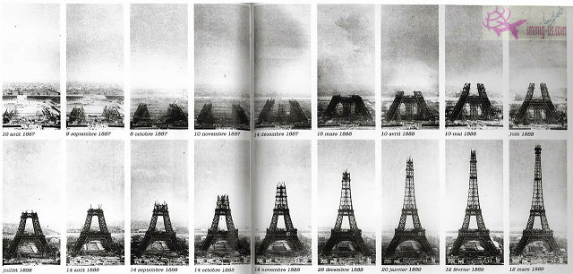 مراحل بناء برج ايفل