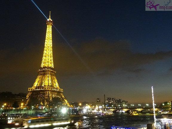 برج ايفل ليلا