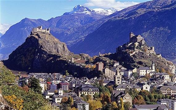 جبال مدينة سيون