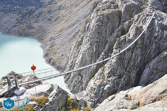 جسر تيتليس من الاعلى