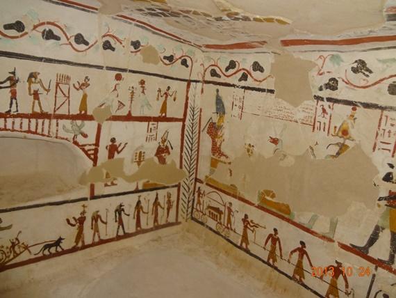 نقوش ورسومات فرعونية فى معابد محافظة الوادى الجديد
