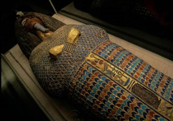 أحد القطع الأثرية الموجدة بالمتحف المصري