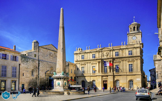 Monument obelisk in the French city of Arles