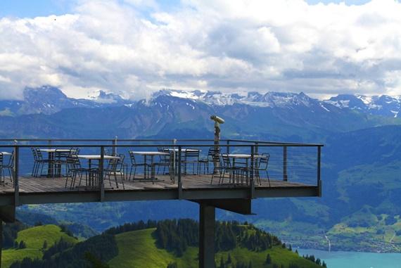 المناظر الطبيعية فى قمة جبل ريجي السويسرية