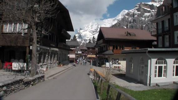 التجول فى جبل مورين بسويسرا