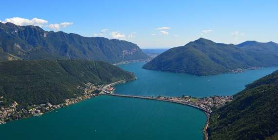 نهر السان بين جبال الألب السويسرية