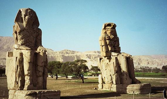 بعض الأثار الفرعونية الموجودة على أرض النوبة المصرية