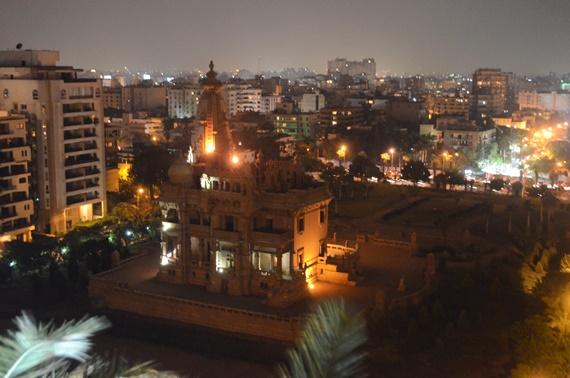 قصر البارون ليلاً بحى مصر الجديدة
