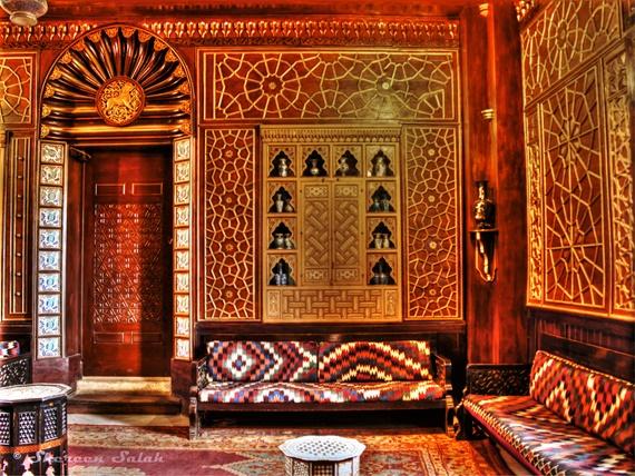 قاعات الألأستراحة بقصر محمد على