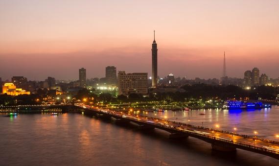 نهر النيل ليلا