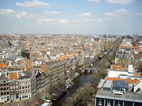 صورة من الاعلى لامستردام