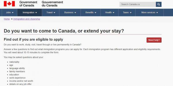 طلب الهجرة الى كندا من مصر