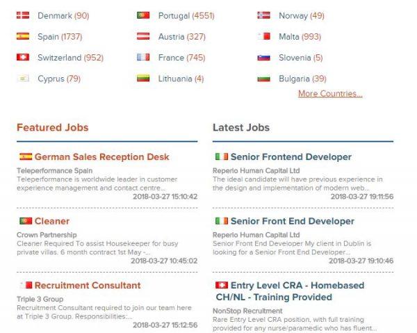 العمل في اوروبا