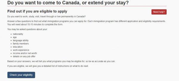 تقييم الهجرة الى كندا