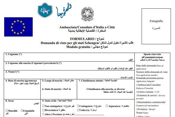 الأوراق المطلوبة للسفر الى ايطاليا من مصر