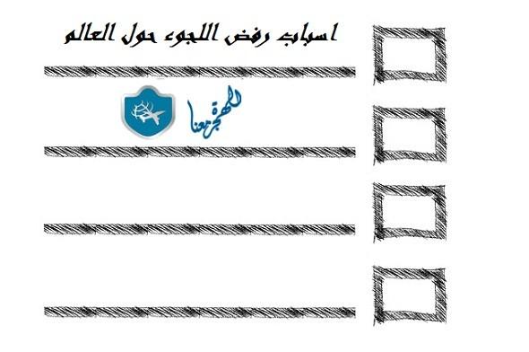 Photo of اسباب رفض اللجوء حول العالم سواء اللجوء العادي أو اللجوء السياسي