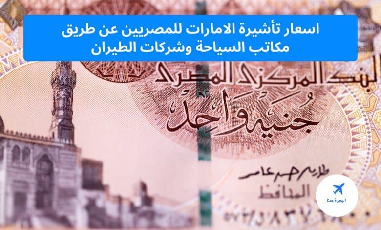 اسعار تأشيرة الامارات للمصريين