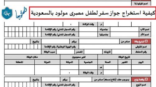 كيفية استخراج جواز سفر لطفل مصرى مولود بالسعودية بالتفصيل