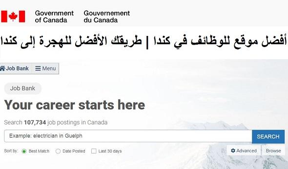 أفضل موقع للوظائف في كندا