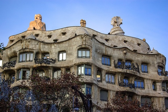 منزل كازا ميلا غاودي برشلونة اسبانيا la casa mila barcelona gaudi