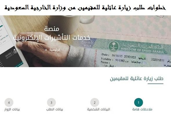 خطوات طلب زيارة عائلية للمقيمين من وزارة الخارجية السعودية