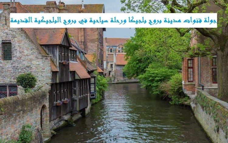 قنوات مدينة بروج بلجيكا