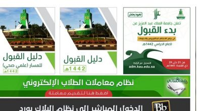 شروط القبول الجامعي في جامعة الملك عبدالعزيز
