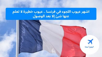 عيوب اللجوء في فرنسا