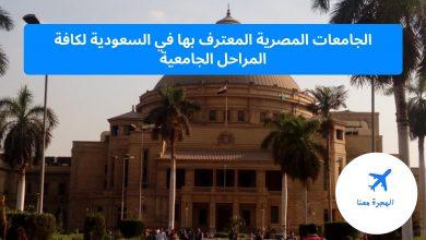الجامعات المصرية المعترف بها في السعودية