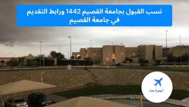 صورة نسب القبول بجامعة القصيم 1442 ورابط التقديم في جامعة القصيم