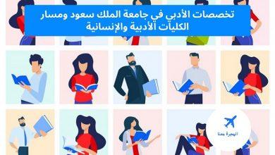 تخصصات الأدبي في جامعة الملك سعود