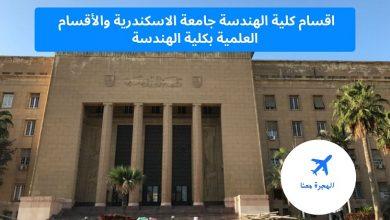 اقسام كلية الهندسة جامعة الاسكندرية