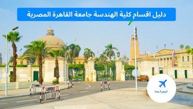 اقسام كلية الهندسة جامعة القاهرة