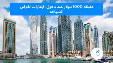 1000 دولار عند دخول الإمارات