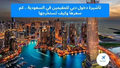 تأشيرة دخول دبي للمقيمين في السعودية
