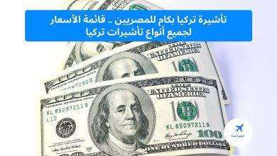 تأشيرة تركيا بكام للمصريين