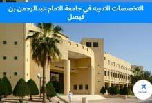 التخصصات الادبيه في جامعة الامام