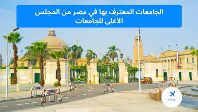 الجامعات المعترف بها في مصر