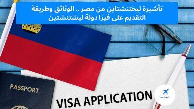 تأشيرة ليختنشتاين من مصر